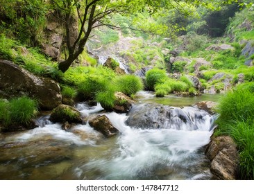 Beautiful river in Galicia. This river is called Belelle and is located in Neda, Galicia, Spain.