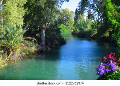 Beautiful river Jordan in Israel