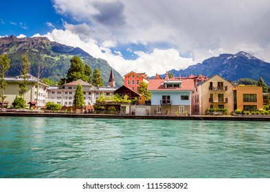 Beautiful river landscape of Interlaken, Switzerland