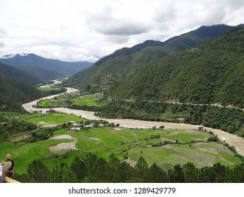 Beautiful river, Punakha, Bhutan
