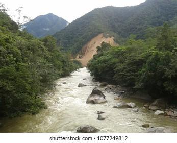 Beautiful river in the rainforest in Zamora - Ecuador