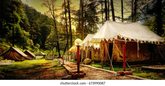 The beautiful river side camps in kasol.