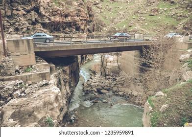 Beautiful rivers between mountains in Kali ali beak Kurdistan , northern Iraq,