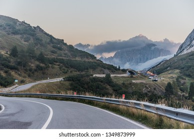 Beautiful road in Dolomites area, South Tyrol, Italy