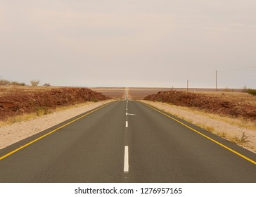 Beautiful road landscape in Namibia, Africa