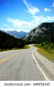 Beautiful road in Rockies mountains