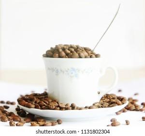 Beautiful roasted coffee beans