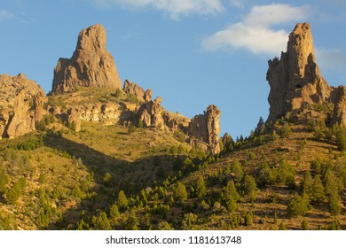 Beautiful Rock formations in  Enchanted Valley near Bariloche, Argentina,
