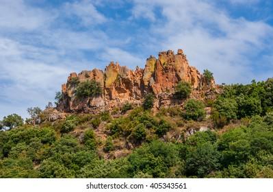Beautiful rock in the sky
