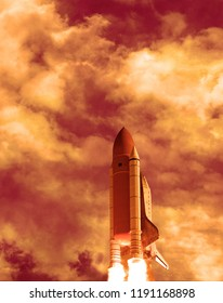 Beautiful rocket launch.The elements of this image furnished by NASA.