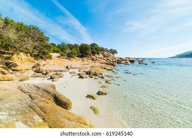 Beautiful rocks in Cala Pira, Sardinia