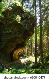 Beautiful rocks in Czech Switzerland mountain park