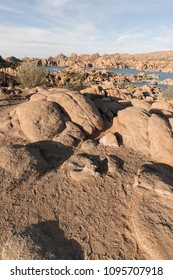 Beautiful rocks in Watson Lake. That was formed in the early 1900s when the Chino Valley Irrigation District built a dam.