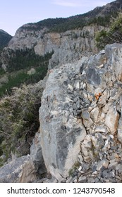 Beautiful rocky landscape of Nevada from Mount Charleston