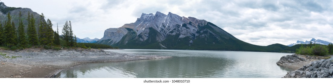 Beautiful Rocky Mountain panorama landscape in Alberta Canada