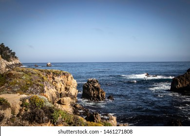 The beautiful rocky shores of Point Lobos State Natural Reserve in Monterey, California.