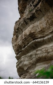 beautiful rocky, uneven colors rock, close-up, nature