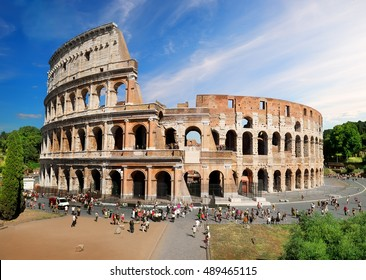 Beautiful roman Colosseum in summer day, Italy