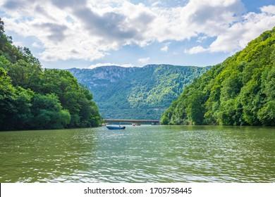 Beautiful Romanian Serbian Danube Valley