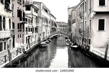 Beautiful romantic streets in Venice