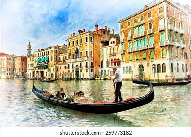beautiful romantic Venice - artistic picture