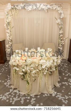 Beautiful Romantic Wedding Table Decoration White Stock Photo Edit