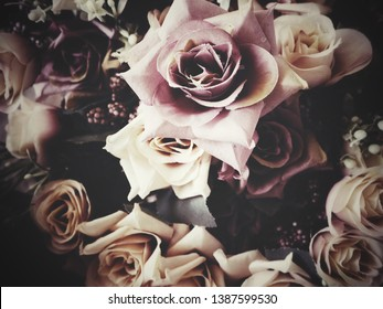 Beautiful of rose artificial flowers