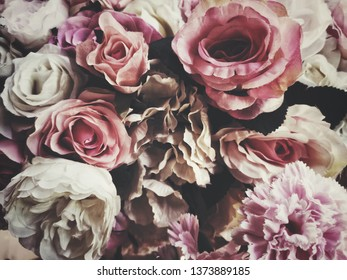 Beautiful of rose artificial flowers vintage