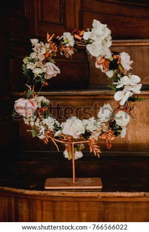 Beautiful Rose Gold Wedding Decor Stock Photo Edit Now 766566022