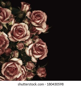 Beautiful Roses Bouquet Flowers Background