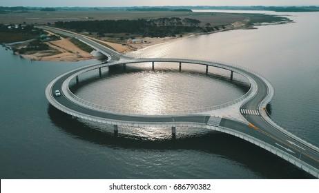 Beautiful rounded bridge in Uruguay