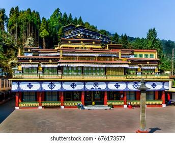 Beautiful Rumtek Monastery in Sikkim, India.