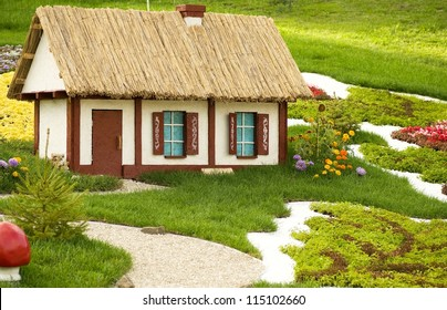 Beautiful rural cottage in summer time.