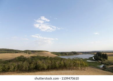Beautiful rural landscape. Aerial view of the spectacular landscape of the nord of Moldova.