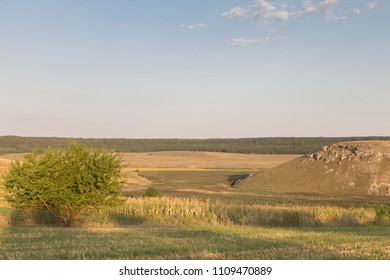 Beautiful rural landscape. The landscape photographed in the nord of Moldova.