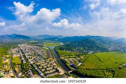 Beautiful rural natural scenery in Hangzhou,China.