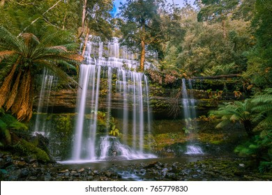 Beautiful Russell Falls, Mount Field National Park, Tasmania, Australia