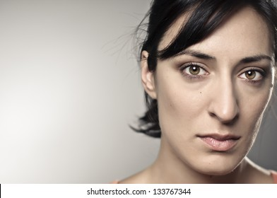 Beautiful, Sad Woman Portrait