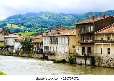 Beautiful Saint-Girons town in Ariege, Midi-Pyrenees, France