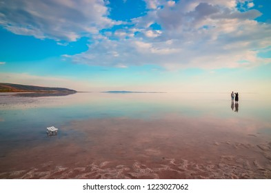 Beautiful Salt Lake Tuz Golu in Turkey. One of the largest salt lakes in the world.