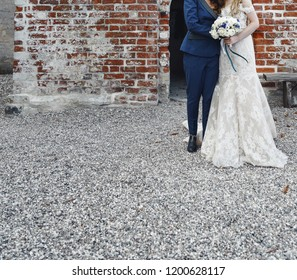 Beautiful same sex wedding couple just happy together