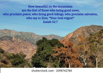 Isaiah 52:7 Images, Stock Photos & Vectors | Shutterstock
