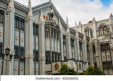 Beautiful San Sebastian Church in the capital Manila, Philippines