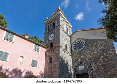 The beautiful Sanctuary of Our Lady of Soviore, Monterosso al mare, La Spezia, Liguria, Italy