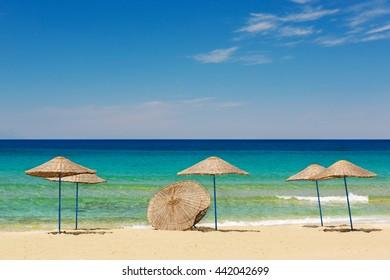 Beautiful sand beaches of Kusadasi National Park in Aegean Sea,Turkey