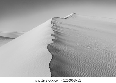 beautiful sand dune in sunrise in the desert