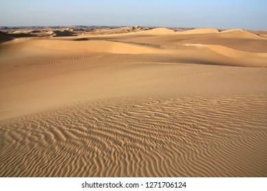 Beautiful sand dunes in the Sahara desert near Siwa Oasis in Egypt