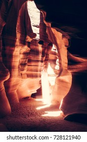 Beautiful  of sandstone formations in upper Antelope Canyon, Page, Arizona, USA