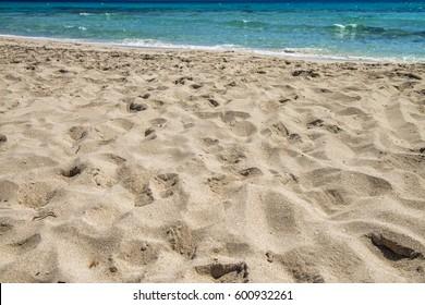 Beautiful sandy beach.