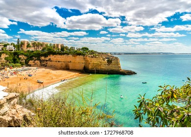 Beautiful sandy beach in called Nossa Senhora da Rocha in Porches, Algarve, Portugal